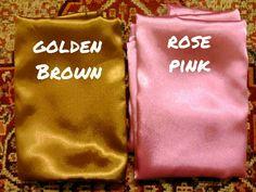 Golden brown and Rose pink .. x tau la wane ni ade ke tak taww ..  Pm di instagram