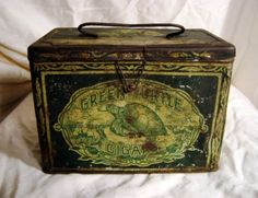 A Moveable Feast: The History of Early and Collectible American Lunchboxes - A cigar tin lunch box.
