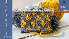 Introducción a Jacquard: Flor de Lis Point - Muestrario de Puntos a dos agujas - Baby Knitting Patterns, Knitting Designs, Knitting Stitches, Knitting Projects, Stitch Patterns, Crochet Patterns, Crochet Motif, Crochet Baby, Knit Crochet