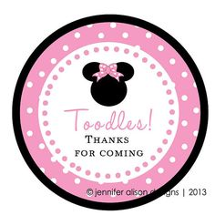 Minnie or Mickey Mouse STICKERS toodles por jenniferalisondesign                                                                                                                                                                                 Más