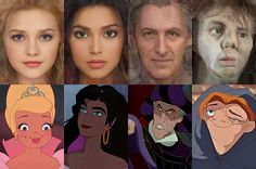 Israeli artist Karen Graw, who works under the name 'Avalonis', has brought to life the characters that have captivated millions of us in these incredible illustrations. (Left to right) Charlotte La Bouffe, Esmeralda, Frollo, Quasimodo