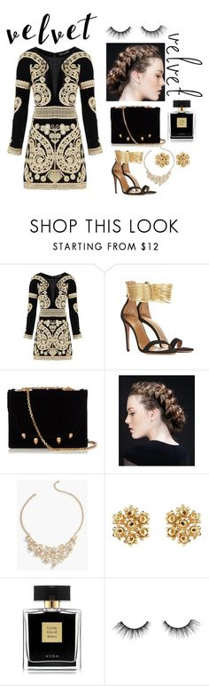 """new age renaissance"" by simisim ❤ liked on Polyvore featuring For Love & Lemons, Aquazzura, Marco de Vincenzo, Talbots, Avon and tarte"