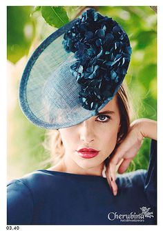 Adore this Hydrangea Adorned Fascinator ~ Millinery Hats, Fascinator Hats, Fascinators, Headpieces, Sinamay Hats, Mode Blog, Races Fashion, Cocktail Hat, Kentucky Derby Hats