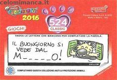 Amici Cucciolotti 2016: Retro Figurina n. 524 -
