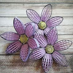Beautiful paper quilling flowers