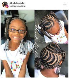 Best Braids With Beads For Girls Kids Cornrows Children Hair 51 Ideas New Braided Hairstyles, Lil Girl Hairstyles, Black Kids Hairstyles, Natural Hairstyles For Kids, Natural Hair Styles, Children Hairstyles, Teenage Hairstyles, Hairstyles Pictures, Beautiful Hairstyles