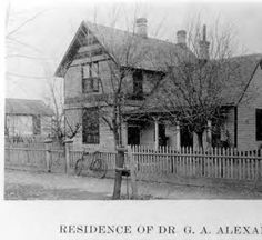 Residence of Dr. G.A. or G.E. Alexander  at 203 Cantrill Street in Castle Rock, CO - 1900 - Dr. Alexander began his medical practice in Castle Rock shortly after moving there in 1893, and continued practicing medicine until his death:: Douglas County History Photograph Collection