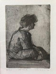 "Paula Rubino, ""Nina"" - 6x4, etching - at Principle Gallery"