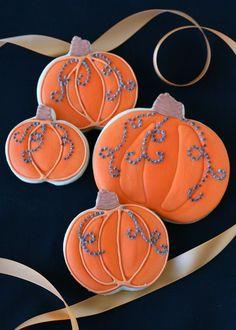 Jeweled Pumpkin Cookies - by Glorious Treats