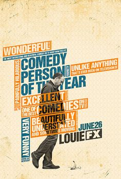 Louie by Ozan Karakoç, via Behance What a great design, start with a photo that many might find boring, and some typography, that again could be a boring disaster, design it and make it look wonderful. Orange + blue such good tag-team design partners.