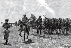 On Campaign in the Sudan, 1885  The 19th Hussars at Abu Klea. The 19th Hussars…