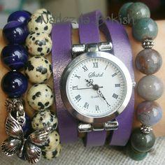 Девочки, часы на стильном кожаном ремешке-намотке, фиолетовый агат, и два вида яшмы. Цена за все 2000 руб. Для заказа пишите Whatsapp/Viber/SMS 89500678882