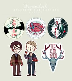 Please, Come In — mlysza:   Hannibal Stickers and Buttons!  All...