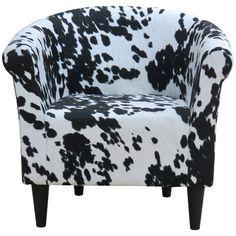 Fox Hill Trading Savannah Cowhide Club Chair | AllModern