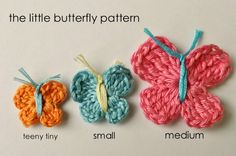 Mini Butterfly Crochet Patters from littlebirdiesecrets.com
