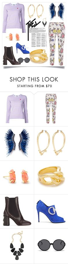 """""""Fashion trends"""" by kate-winslet-143 ❤ liked on Polyvore featuring House of Holland, Mignonne Gavigan, Eddie Borgo, Kendra Scott, Lizzie Fortunato, Miu Miu, Gucci and Linda Farrow"""