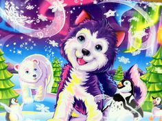 Lisa Frank Arctic theme  I had a folder like this when I was young!!