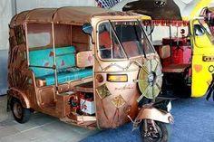 Auto Rickshaw Art Cars – Art Car Central Piaggio Ape, Art Cars, My Favorite Things, Traveling, Van, Bike, India, Vehicles, Sweet