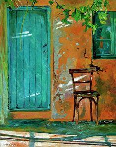 Wicker Furniture, Painted Furniture, Painting Frames, Painting Prints, Old Doors, Front Doors, Garden Doors, Rustic Doors, Impressionist Paintings