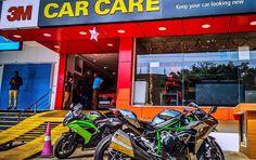 Alien has landed in Mangalore.  The Dad of all Kawasaki Bikes the Ninja H2. One of the 3 bikes in Karnataka and my baby Ninja 650r.  #Kawasaki #NinjaH2 #3MCarCareMangalore  #KawasakiNinjaH2 #revlimiterz #mangalore