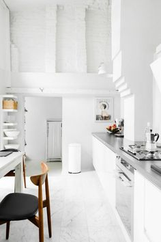 A white industrial home in Poland