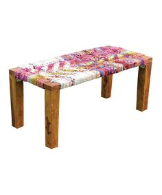 This is so interesting! I love the woven seat , I would have never thought to do this on a bench.   Wooden Bench