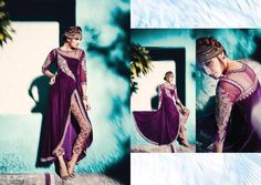 Pakistani Wedding Party Indian Purple Bollywood Designer Anarkali Salwar Kameez #KriyaCreation #SalwarSuit
