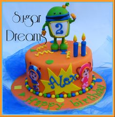- A Team Umizoomi cake....all the characters are handmade with fondant