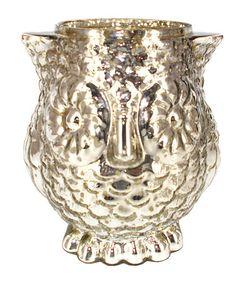 Look at this #zulilyfind! Owl Glass Vase #zulilyfinds