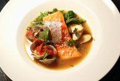 Centre Street Cafe: Arctic char in clam and pepper broth.