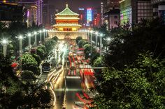A nice view of Xian by night #China