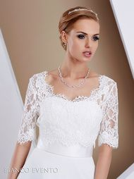 Front facing lace jacket with three quart sleeves