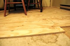 Painted plywood floors -- creative!