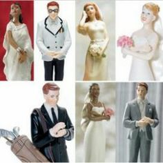 Wedding Cake Toppers Separates