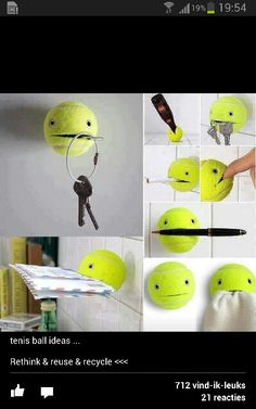 things you can do with a tennis ball School Projects, Projects To Try, Creative Crafts, Diy Crafts, Things To Do When Bored, Diy Wall Art, Diy For Kids, Kids Playing, Kids Bedroom