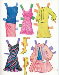 1968 Vintage Whitman Barbie Christie Stacey paper dolls uncut MOD-ERA!