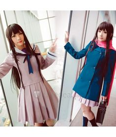Noragami Hiyori Iki Sailor School Cosplay Costume #halloween