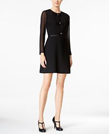 Maison Jules Samantha Bow-Detail Dress, Only at Macy's