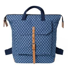Ally Capellino's Frances rucksack - one of only twelve made of shweshwe fabric from South Africa.