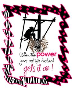 Linemans Wife Power Gets It on Tee by RhinestonesandRacks on Etsy, $18.00