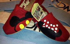 Mickey Mouse & Minnie Mouse Disney Inspired Custom TOMS. $94.00, via Etsy.