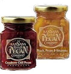 Authentic The Great San Saba River Pecan Company Preserve Gift Tower, ,