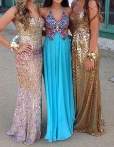 Long Sequin Prom Dresses Both dresses on the sides!  GLITTERRR!!!