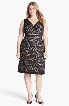 Xscape Lace Fit & Flare Dress (Plus Size) available at #Nordstrom