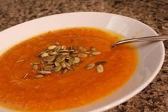 Butternut squash ( soup ) is so soft that you don't need any dairy in this recipe to make a satisfying creamy soup. Roasting vegetables caramelizes their natural sugars, so it gives this soup a light sweetness and richness of flavor.</p>