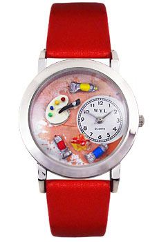 Artist designed Artist Watch featuring miniature paint, brushes and art palette! This unique watch is a great artist gift idea, choose from 8 watch band colors! Art Watch, Gifts For An Artist, Cool Watches, Cool Art, Palette, Cool Clocks, Palette Table, Pallet