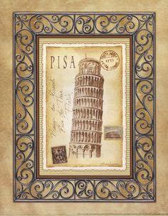 Andrea Laliberte - 'Pisa Postcard'