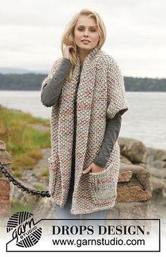 Basic patterns - Free knitting patterns and crochet patterns by DROPS Design Crochet Jacket, Crochet Cardigan, Knit Or Crochet, Crochet Shawl, Wool Poncho, Alpaca Wool, Merino Wool, Knitting Patterns Free, Knit Patterns