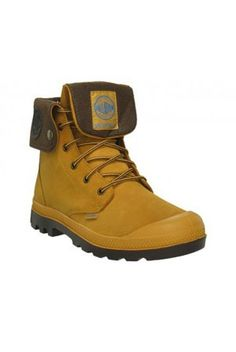 Palladium amber gold waterproof Baggy Leather Gusset Boots at ScaryCanary Clothing