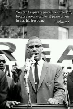 Malcom X. Again his words are inspiring even though they conflict with MLKJ. I can see his point of view along with MLKJ.